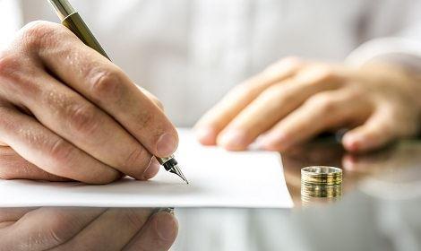 Scheidingsdocument tekenen